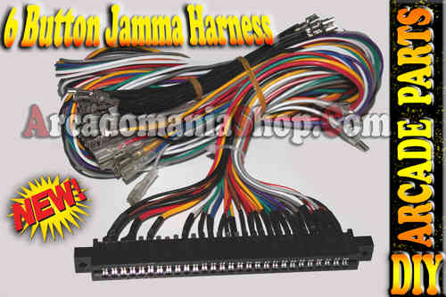 Jamma Harness 6 Buttons